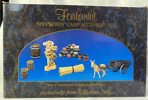 Fontanini-Nativity-SHEPHERDS-039-CAMP-ACCESSORY-SET-51102-5-034-Nativity-IN-BOX