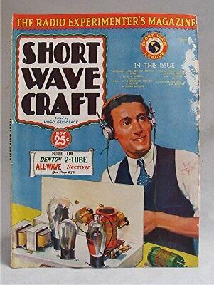 Vintage Sept 1932 Short Wave Craft Magazine Edited By Hugo Gernsback Ebay