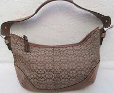 -Authentique   sac à main  COACH cuir et toile TBEG   vintage bag