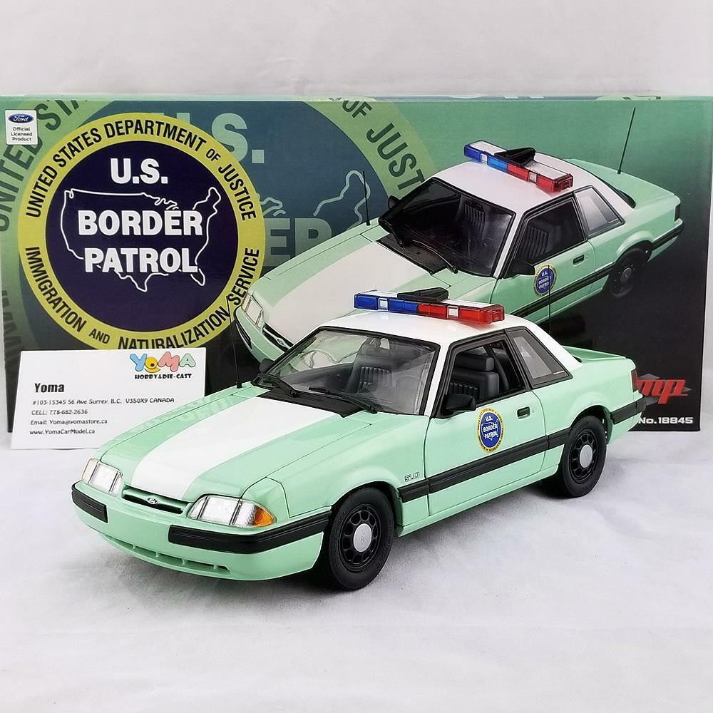 GMP 1/18 1988 Ford Mustang United States Border Patrol SSP GMP-18845