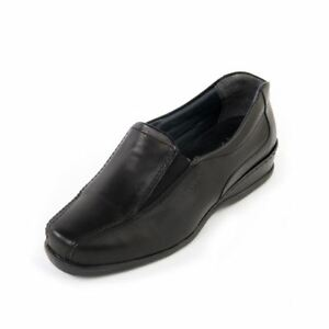 Slip Black Sandpiper Wide Leather Up On To Wilson 5e Moccasin Women Exrta Fiting vRSUwq