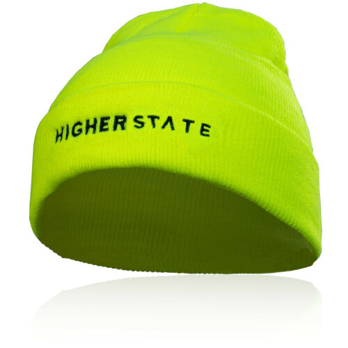 Higher State Mens Cold Weather Beanie Yellow Sports Running Outdoors Warm