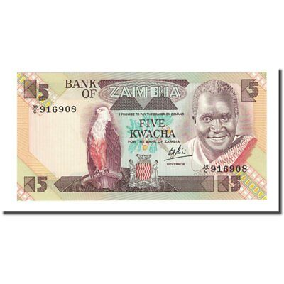 Zambia Loyal Unc Banknote Km:25c 5 Kwacha #169211 1980-88 High Quality And Low Overhead 65-70 Undated