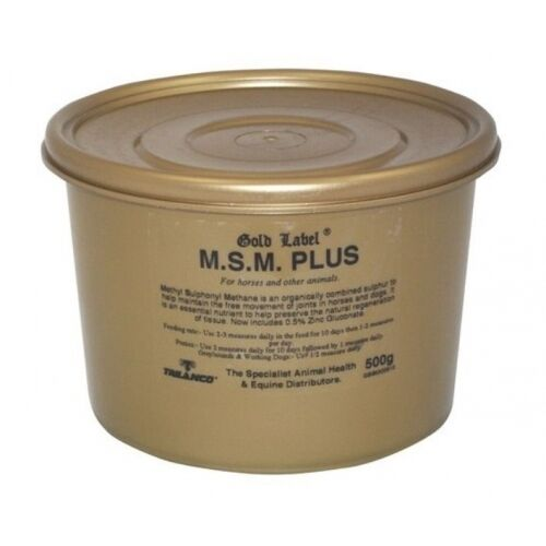 Gold label-msm plus cheval /& chien saine joint supplément 250 gm working dogs