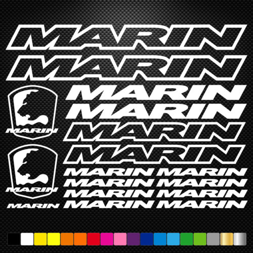 Marin Vinyl Decals Stickers Sheet Bike Frame Cycle Cycling Bicycle Mtb Road