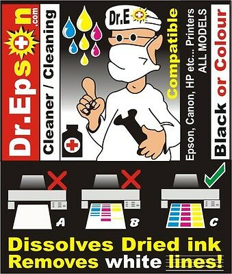 MAGIC CLEANER FIX UNCLOG EPSON PRINTER R200 R800 R1800 2200 unblock cleaning Kit