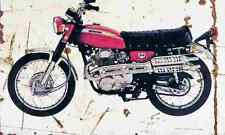 Honda CL350 1970 Aged Vintage SIGN A4 Retro