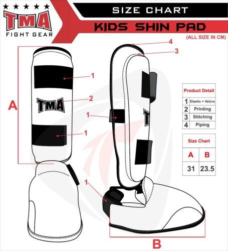 Shin Instep Pads MMA Kick Boxing Protector For junior Kids Muay Thai Shin