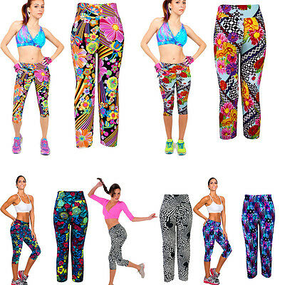 High Waist Fitness Yoga Sport pants Printed Stretch Cropped Leggings Unique