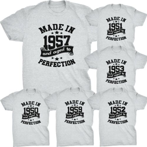 Made in 1950 to 1959 dads birthday fifties age t-shirt fathers day daddy
