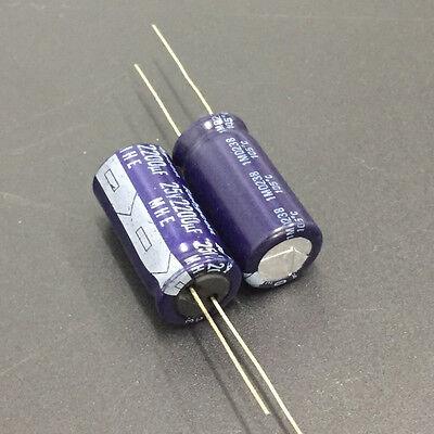5 pcs 2200uF 25V  105C radial electrolytic capacitor