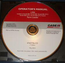 Case L350 Farm Loader Operation Amp Maintenance Cd Manual For 40b 50b 45b Tractors