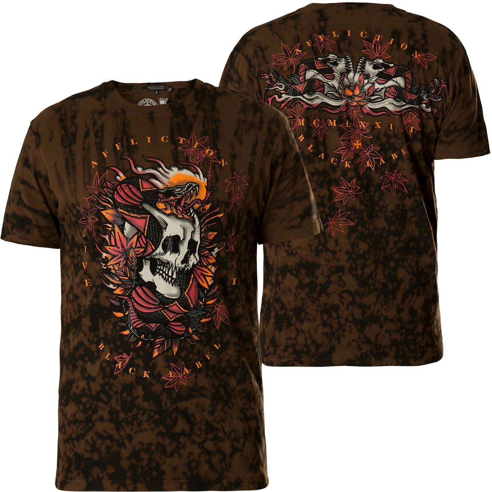 AFFLICTION T-Shirt Firethorn brown T-Shirts