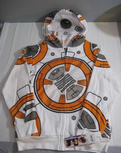 New Boys Star Wars BB-8 Hoodie Sweatshirt Sz Medium M Disney Lucas Films Costume