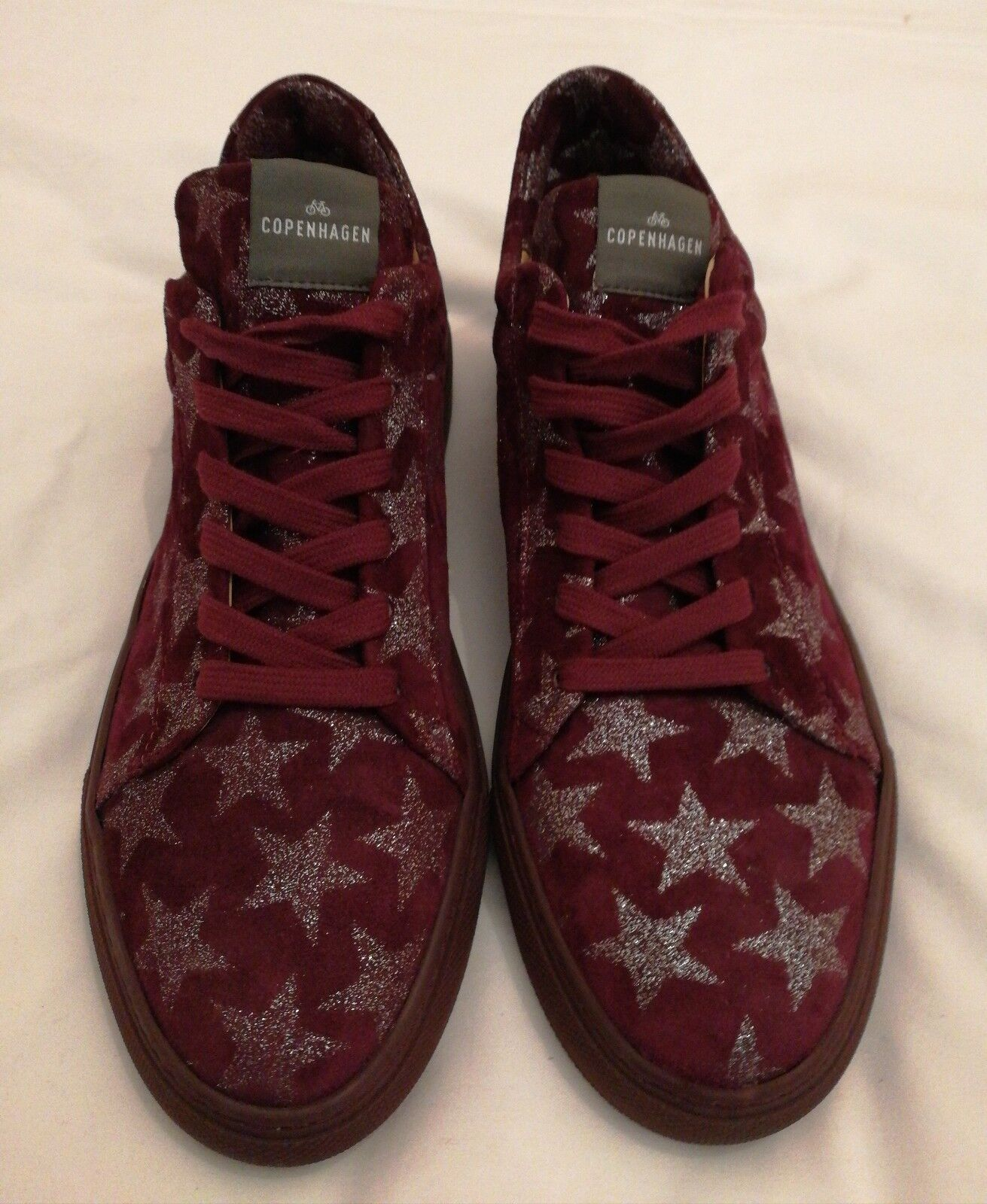 Copenhagen Suede Größe Star Lace-up Sneakers Burgundy Größe Suede uk 6 eu 39 a295cb