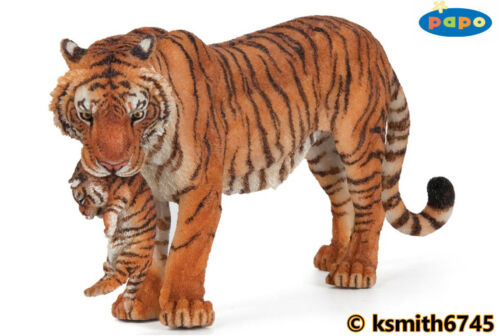 NEW * Papo TIGER /& CUB solid plastic toy figure wild zoo animal cat tigress