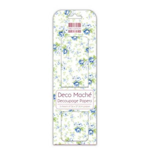 Trabajo Lote De 10 paquetes de primera edición Deco maché papeles Azul Marino Rose-DM088 Nuevo