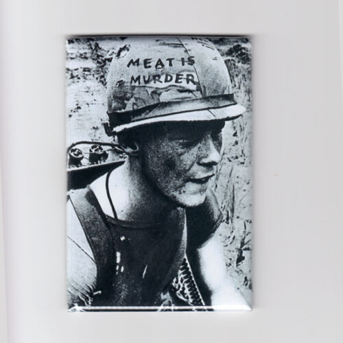MEAT IS MURDER THE SMITHS classic vintage vegan MINI POSTER FRIDGE MAGNET