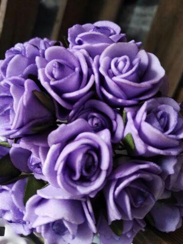 24 x Rosen Rosenstrauß Schaumrosen Viele Farben Deko Foamrosen Dekorosen 25mm