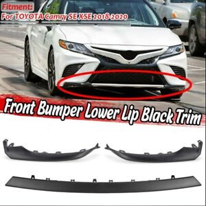 Front Bumper Side Lip Cover Lower Molding Trim For Toyota Camry SE XSE 2018-20