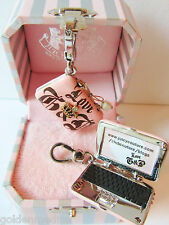 Juicy Couture Pink Laptop Charm w/ Box Sold out! Rare & Retired! Computer Crown