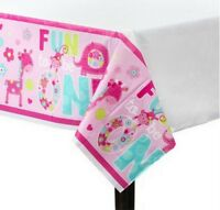 Wild At One Girl's 1st Birthday Plastic Table Cover Decoration - 571424