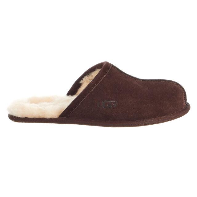 9204f1ee148 UGG Men s Scuff SLIPPER Suede Sheepskin Wool 1101111 M Espresso Size ...