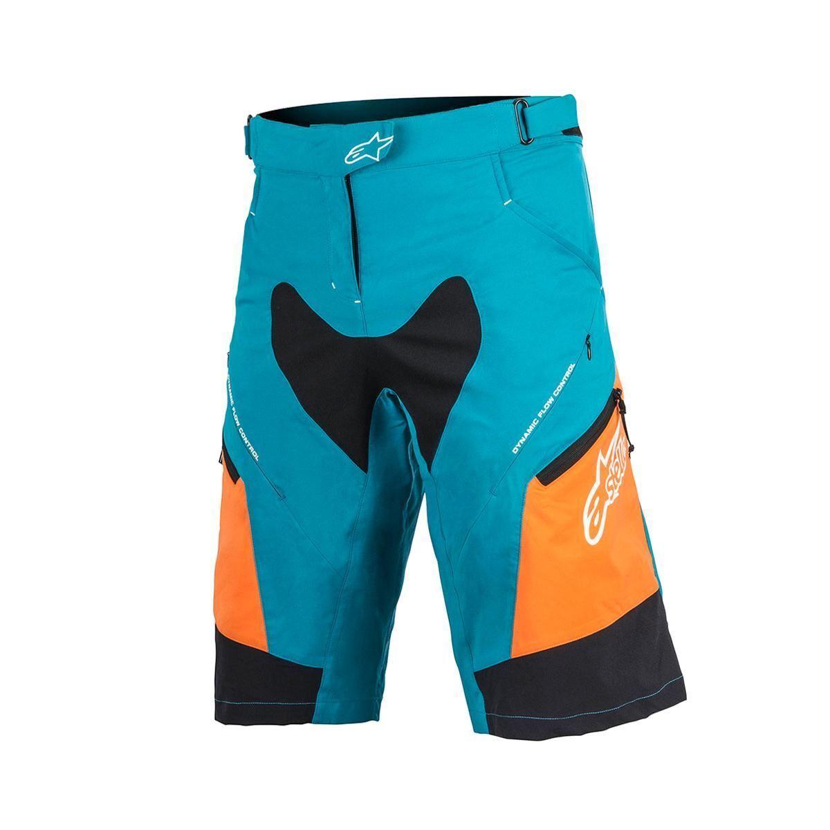 Pantalones cortos para Ciclismo Alpinestars Stella gota 2 2017 Ocean naranja brillante 34 bolsillos