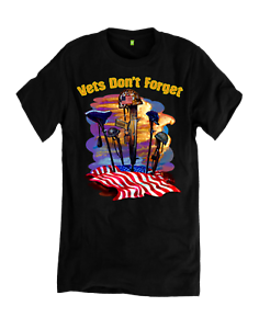 Vets-Don-039-t-Forget-American-War-Helmets-T-Shirt-Choice-Of-T-Shirts-Color