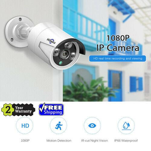 WM 1080P 2.0MP POE IP Camera P2P Onvif Outdoor Security Waterproof Bullet Black