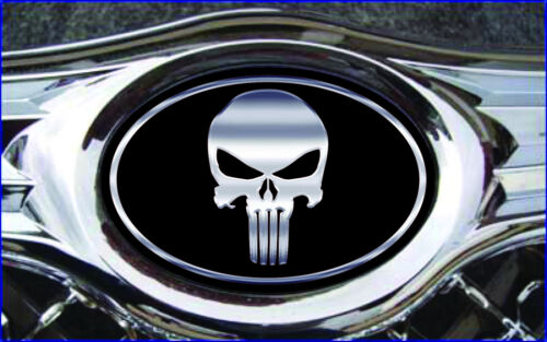 Chysler 300 C 2005-2010 Overlay Emblem DECALS Punisher Black//Chrome REAR