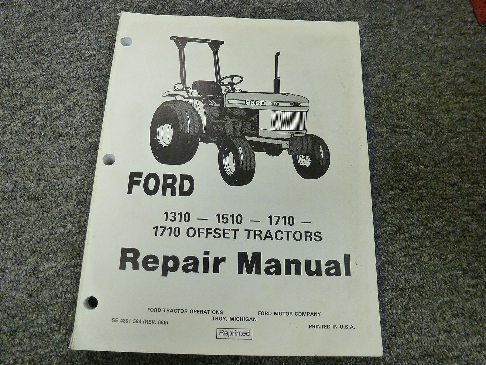 Ford 1310 1510 1710 Compact 1710 Offset Tractor Service Repair Shop Manual  Book | eBay