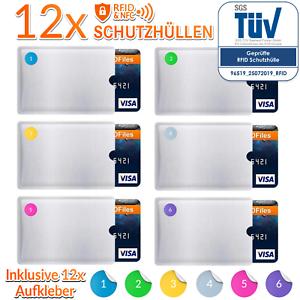 12x-RFID-Schutzhuelle-Blocker-Kreditkarte-EC-Karte-Schutz-NFC-Huelle-Schutzhuellen