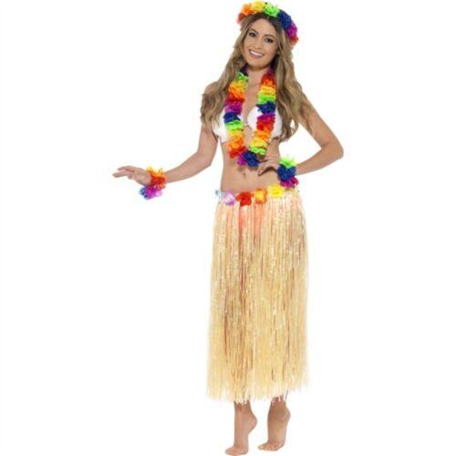 Rainbow Hawaiian Set Multi-colored With Garland Headband /& Wristband Fancy