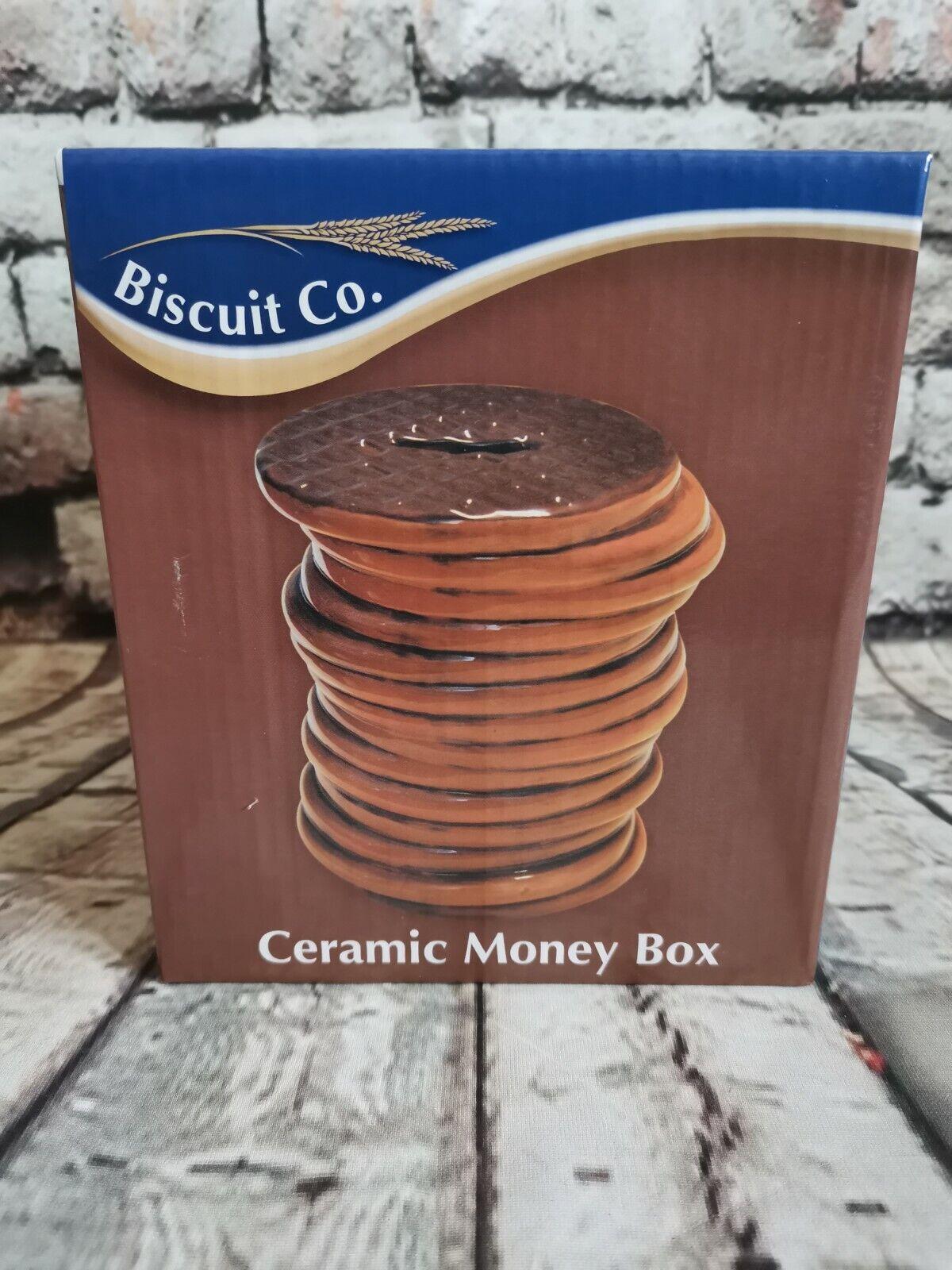 Chocolate Biscuit Ceramic Money Box Gift boxed