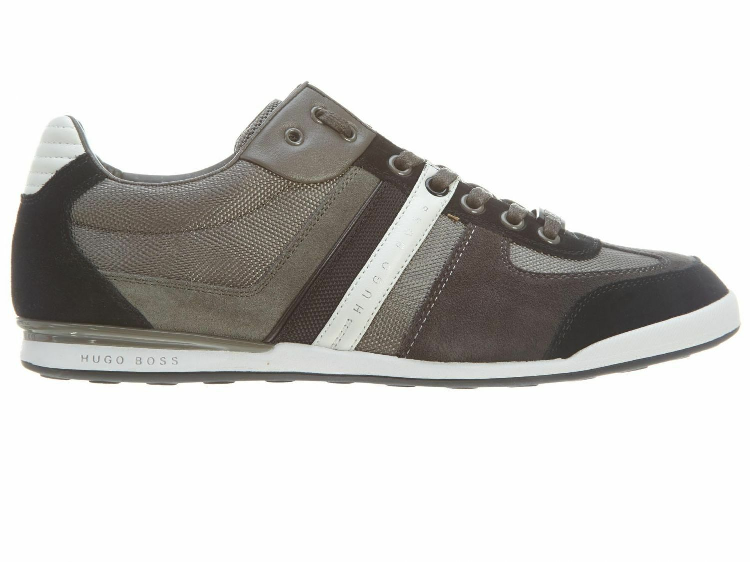 Hugo Boss Akeen Mens 50247604-030 Grey Nylon Suede Shoes Casual Sneakers Size 13