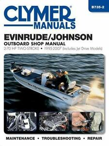 1995 2007 johnson evinrude 2 70 hp outboard clymer repair service rh ebay com 70 HP Evinrude Parts 1975 evinrude 70 hp service manual