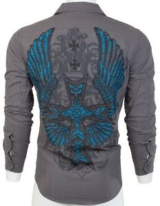 2 Eighty Eight AFFLICTION Mens BUTTON DOWN SHIRT Express Roar UFC Jeans $68