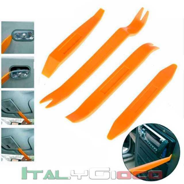 Kit 4 Leve per Smontaggio Componenti in Plastica Carrozzeria Pannelli Auto Car