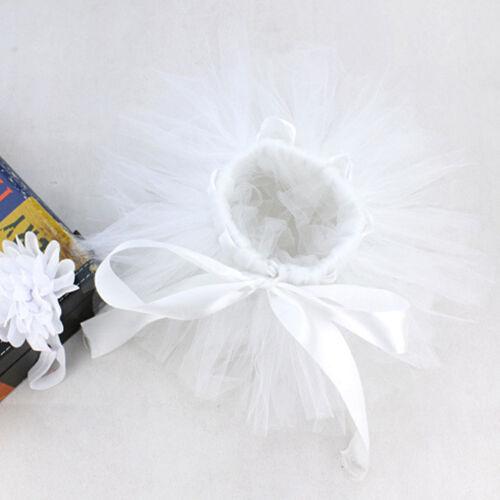 Infant Baby Girls Newborn Flower Headband Tutu Skirt Costume Set Photo Props