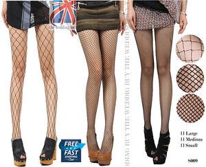 Nude-Black-Women-Lady-Fishnet-Net-Pattern-Burlesque-Hoise-Pantyhose-Tights-S009