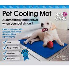 Nuevo Perro Gato Mascota Cooler Pad De Cama Estera De Gel Refrescante Cool 60 X 44cm Azul