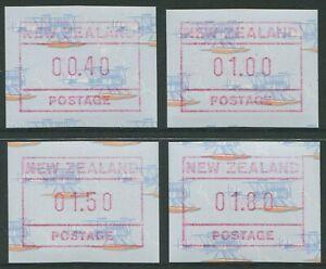 NEW-ZEALAND-SEA-PLANE-FRAMA-LABELS-1990-MNH-SET-OF-FOUR-G93