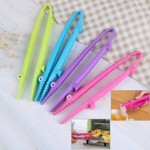 1Pc-Plastic-cooking-kitchen-tongs-food-salad-bacon-steak-bread-clip-clamp-T-Gw