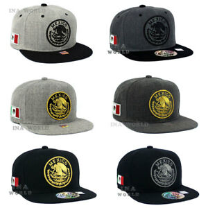 b12f0133e3f Image is loading MEXICAN-hat-cap-Snapback-MEXICO-Federal-Logo-Embroidered-