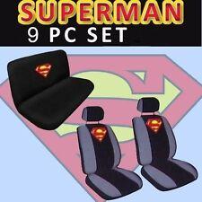 9pc SUPERMAN UNIVERSAL Seat Covers Superhero INTERIOR SET