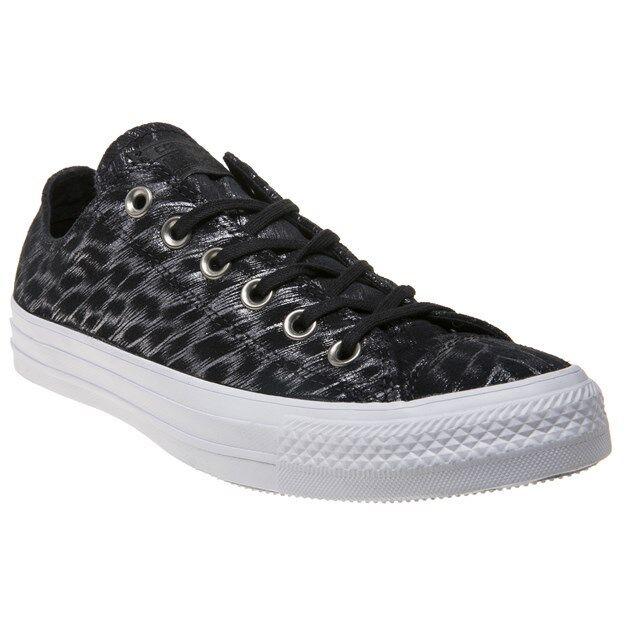 Nueva camiseta mujer para mujer camiseta Negro Converse All Star Ox Textil Zapatillas Plimsolls con cordones 91f901