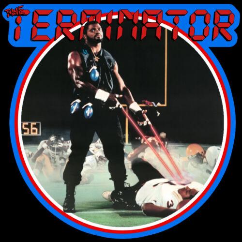80/'s Giants Classic Lawrence Taylor The Terminator Poster Art custom tee AnySize