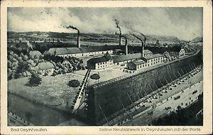 Bad Oeynhausen Nordrhein-Westfalen 1917 Saline Neusalzwerk Firma Panorama Werk