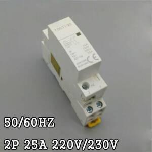 2P-25A-220V-230V-50-60HZ-60HZ-Contactor-De-CA-Carril-De-Din-2NO-2NO-1NONC-Casa